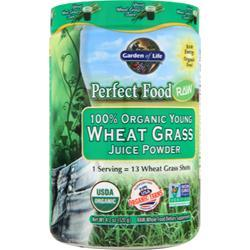 GARDEN OF LIFE Wheat Grass Juice Powder - 100% Organic Young 120 grams