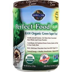 GARDEN OF LIFE Perfect Food Raw Powder Chocolate Cacao 570 grams