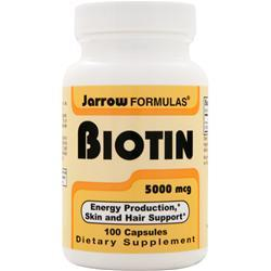 JARROW Biotin (5mg) 100 caps