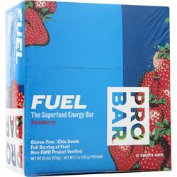 PRO BAR Fuel - the Superfood Energy Bar Strawberry 12 bars