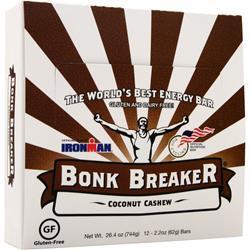 Bonk Breaker Energy Bar Coconut Cashew 12 bars