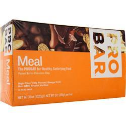 Pro Bar Whole Food Meal Bar PB Chocolate Chip 12 bars