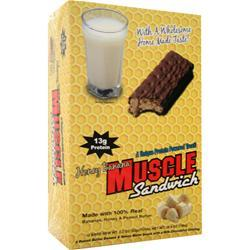 Muscle Foods Muscle Sandwich Bar Honey Banana 12 bars