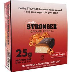 NUGO NUTRITION NuGo Stronger Bar Caramel Pretzel 12 bars