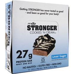 Nugo Nutrition NuGo Stronger Bar Cookies 'N Cream 12 bars
