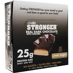 NUGO NUTRITION NuGo Stronger Bar Dark Chocolate w/ Caramel 12 bars