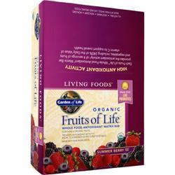 GARDEN OF LIFE Organic Fruits of Life Whole Food Antioxidant Matrix Bar Summer Berry 12 bars