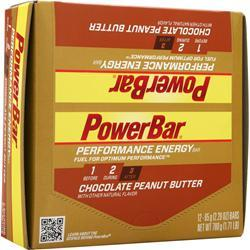 POWERBAR Performance Energy Bar Chocolate Peanut Butter 12 bars
