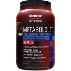 Champion Nutrition Metabolol II Chocolate Brownie 2.2 lbs