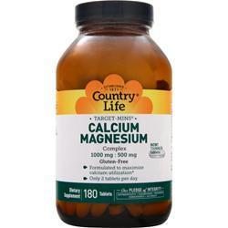 Country Life Target-Mins Calcium-Magnesium Complex 180 tabs