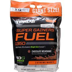 TWINLAB Super Gainers Fuel 1350 Chocolate Milkshake 12 lbs