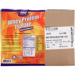 NOW Whey Protein Isolate - Natural Unflavored 10 lbs