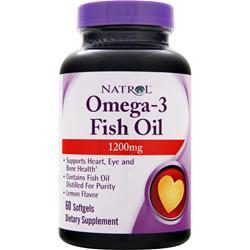 Natrol Omega-3 Fish Oil (1200mg) Lemon 60 sgels