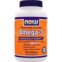 NOW Omega-3 Odor Controlled, Enteric (1000mg) 180 sgels