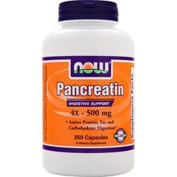 NOW Pancreatin 4X (500mg) 250 caps