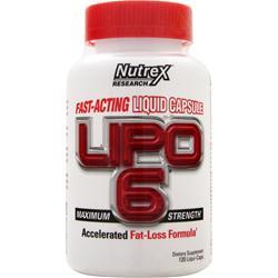 NUTREX RESEARCH Lipo-6 Maximum Strength 120 caps