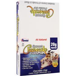 ANSI Gourmet Cheesecake Protein Bar Chocolate Chip 12 bars