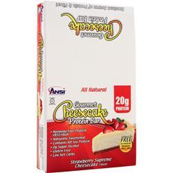 ANSI Gourmet Cheesecake Protein Bar Strawberry Supreme 12 bars