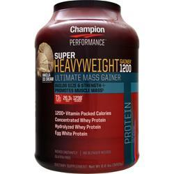 CHAMPION NUTRITION Super Heavyweight Gainer 1200 Vanilla Ice Cream 6.6 lbs