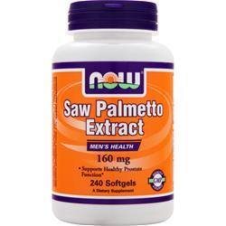 Now Saw Palmetto Extract (160mg) 240 sgels
