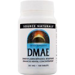 SOURCE NATURALS DMAE (351mg) 100 tabs