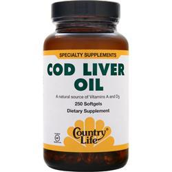 Country Life Cod Liver Oil 250 sgels