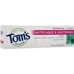 Tom's Of Maine Antiplaque Tartar Control Whitening Toothpaste Fluoride-Free Peppermint 5.5 oz
