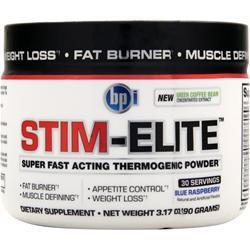 BPI Stim-Elite Blue Raspberry 90 grams
