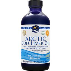 NORDIC NATURALS Arctic Cod Liver Oil Liquid Orange 8 fl.oz