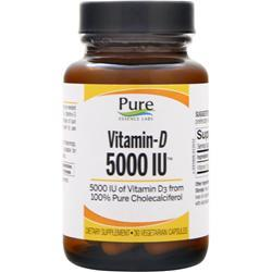 Pure Essence Labs Vitamin-D (5000IU) 30 vcaps
