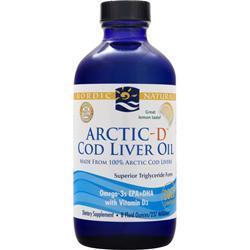 NORDIC NATURALS Arctic-D Cod Liver Oil Lemon 8 fl.oz