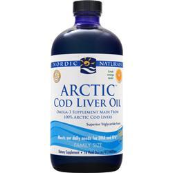 NORDIC NATURALS Arctic Cod Liver Oil Liquid Orange 16 fl.oz
