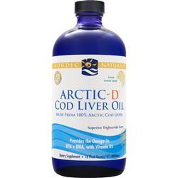 NORDIC NATURALS Arctic Cod Liver Oil Liquid Lemon 16 fl.oz