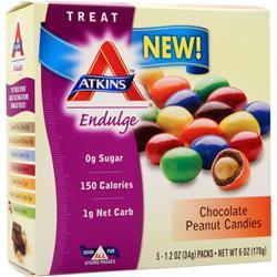 ATKINS Endulge Candy Chocolate Peanut Candies 5 pckts