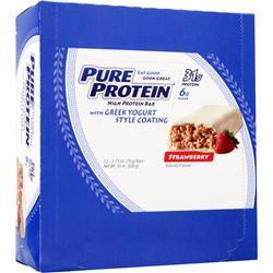 WORLDWIDE SPORTS Pure Protein Bar Strawberry Greek Yogurt 12 bars