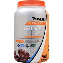 TwinLab Clean Series - Gainers 600 Chocolate Milkshake 3.2 lbs