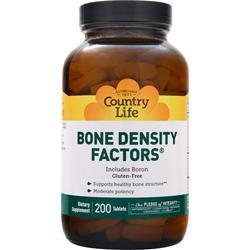 COUNTRY LIFE Bone Density Factors with Boron 200 tabs