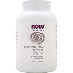 NOW Bentonite Powder (100% Pure Clay) 1 lbs