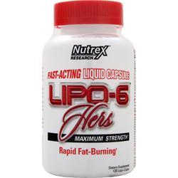NUTREX RESEARCH Lipo-6 Hers Maximum Strength 120 lcaps