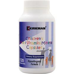 Kirkman Children's Multi Vitamin and Mineral Hypoallergenic Capsules 120 caps