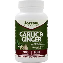 JARROW Garlic & Ginger 100 caps