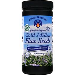 OMEGA NUTRITION Cold Milled Flax Seeds 17.5 oz