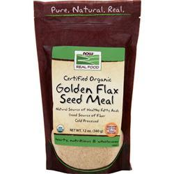 NOW Golden Flax Seed Meal - Certified Organic 12 oz