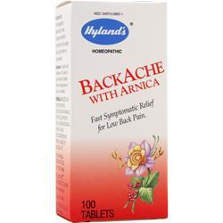 HYLANDS HOMEOPATHIC Backache with Arnica 100 tabs