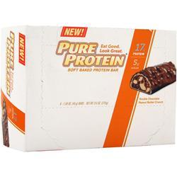 WORLDWIDE SPORTS Pure Protein Soft Baked Bar Chocolate PB Crunch 6 bars