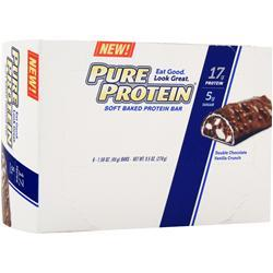 WORLDWIDE SPORTS Pure Protein Soft Baked Bar Chocolate Vanilla Crunch 6 bars