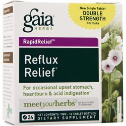 GAIA HERBS Reflux Relief 24 tabs