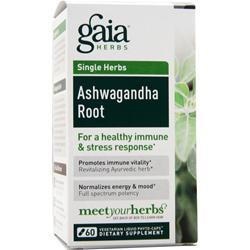 Gaia Herbs Ashwagandha Root 60 lcaps