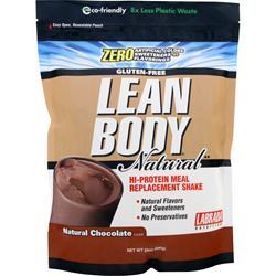 LABRADA Lean Body Natural - Hi Protein Meal Replacement Shake Natural Chocolate 24 oz