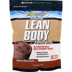 Labrada Lean Body Natural - Hi Protein Meal Replacement Shake Natural Chocolate 24 oz